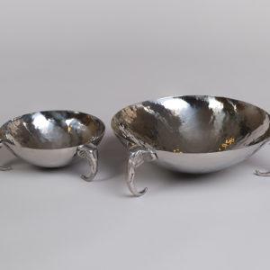 Fat i rustfritt stål med elefanthode føtter - Stor-44