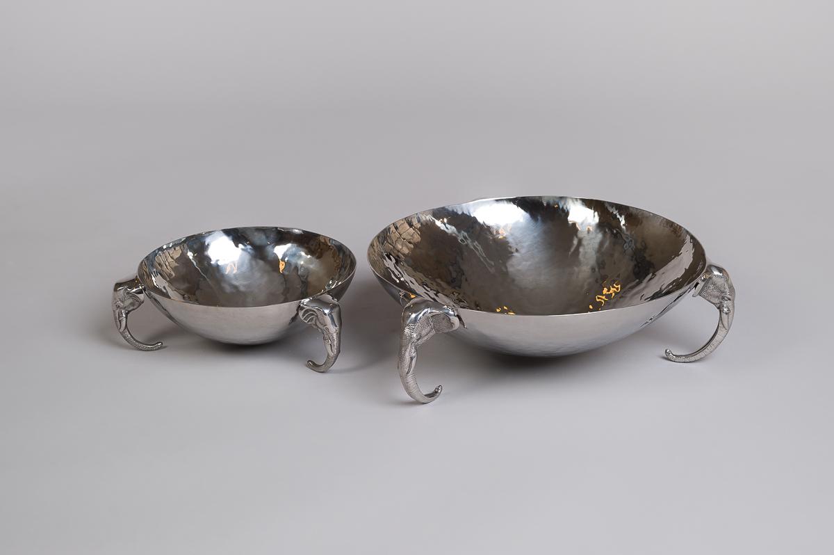 Fat i rustfritt stål med elefanthode føtter - Medium-47