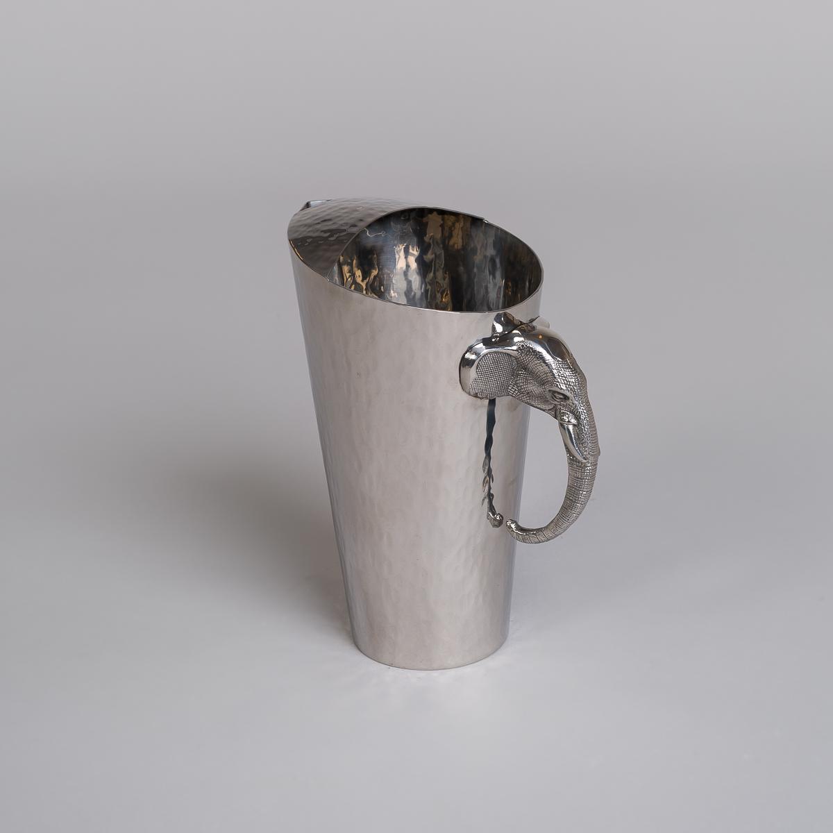 Mugge i rustfritt stål med elefanthode håndtak-0