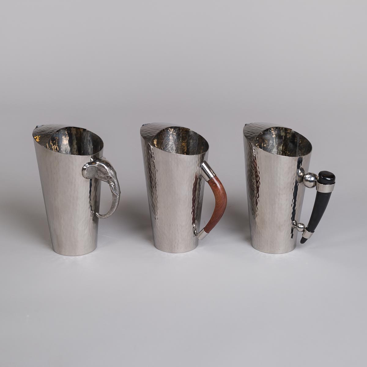 Mugge i rustfritt stål med håndtak i teak-39
