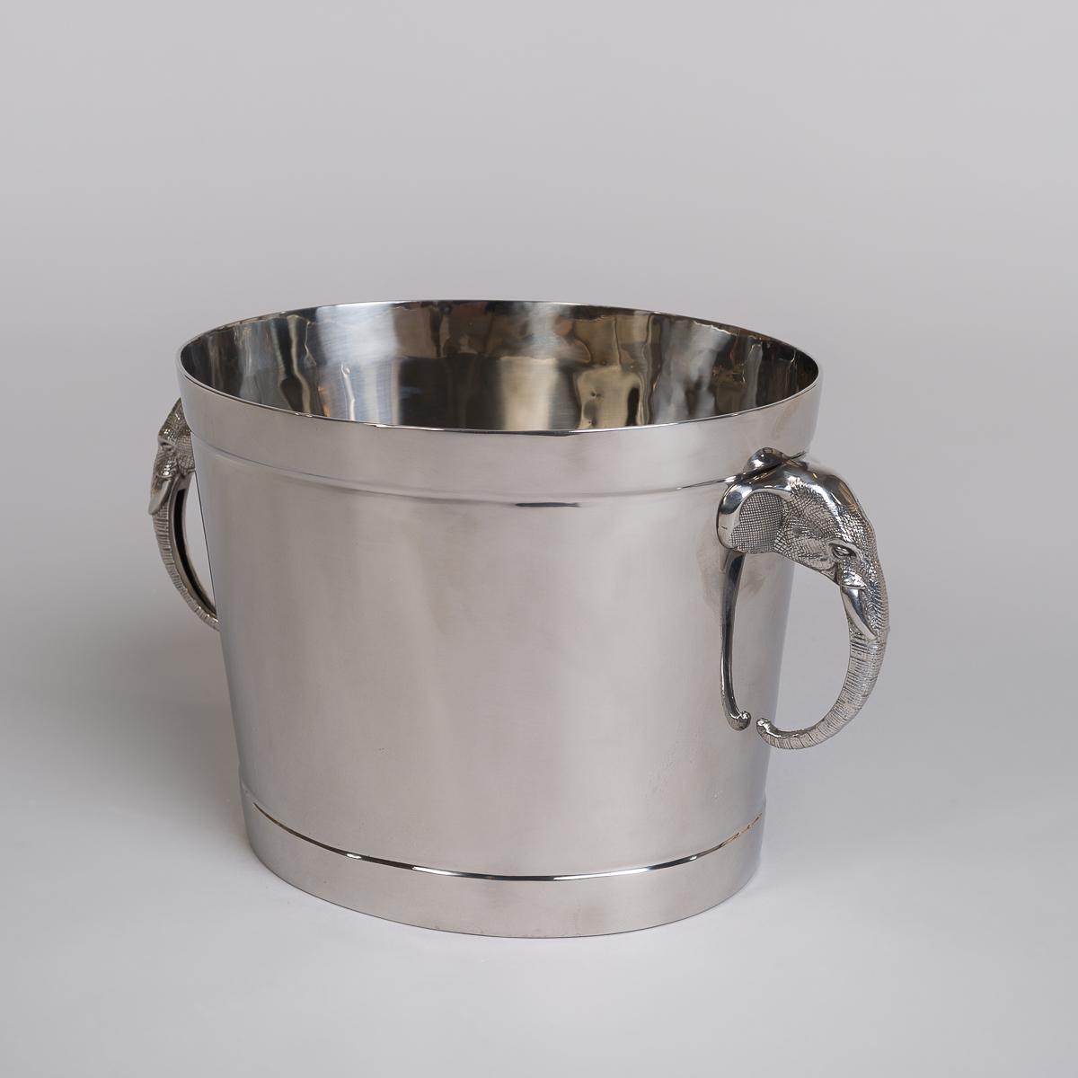 Champagnekjøler i rustfritt stål med elefanthåndtak - Glatt utgave-0