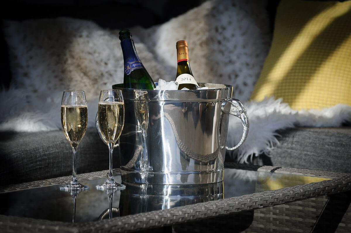 Champagnekjøler i rustfritt stål med elefanthåndtak - Glatt utgave-382
