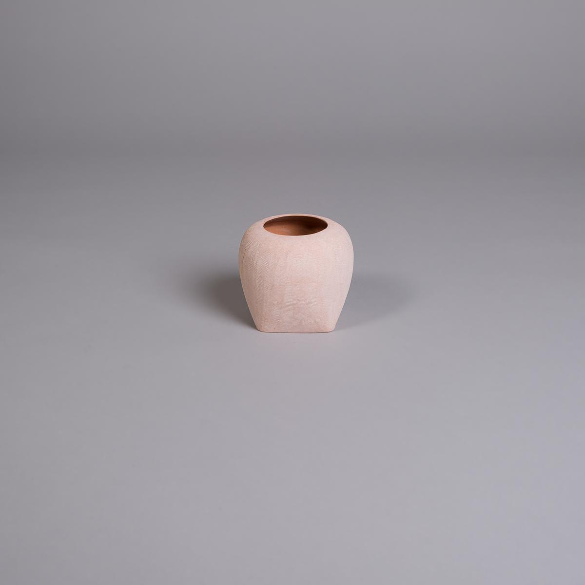 Oliver vase i sandstein - 14 cm - Rosa-0