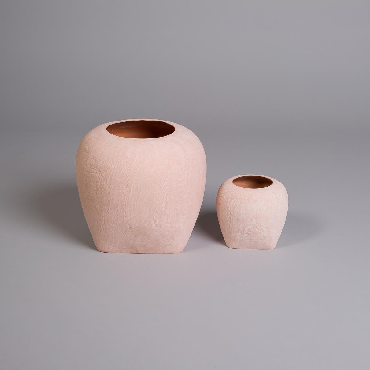 Oliver vase i sandstein - 14 cm - Rosa-208