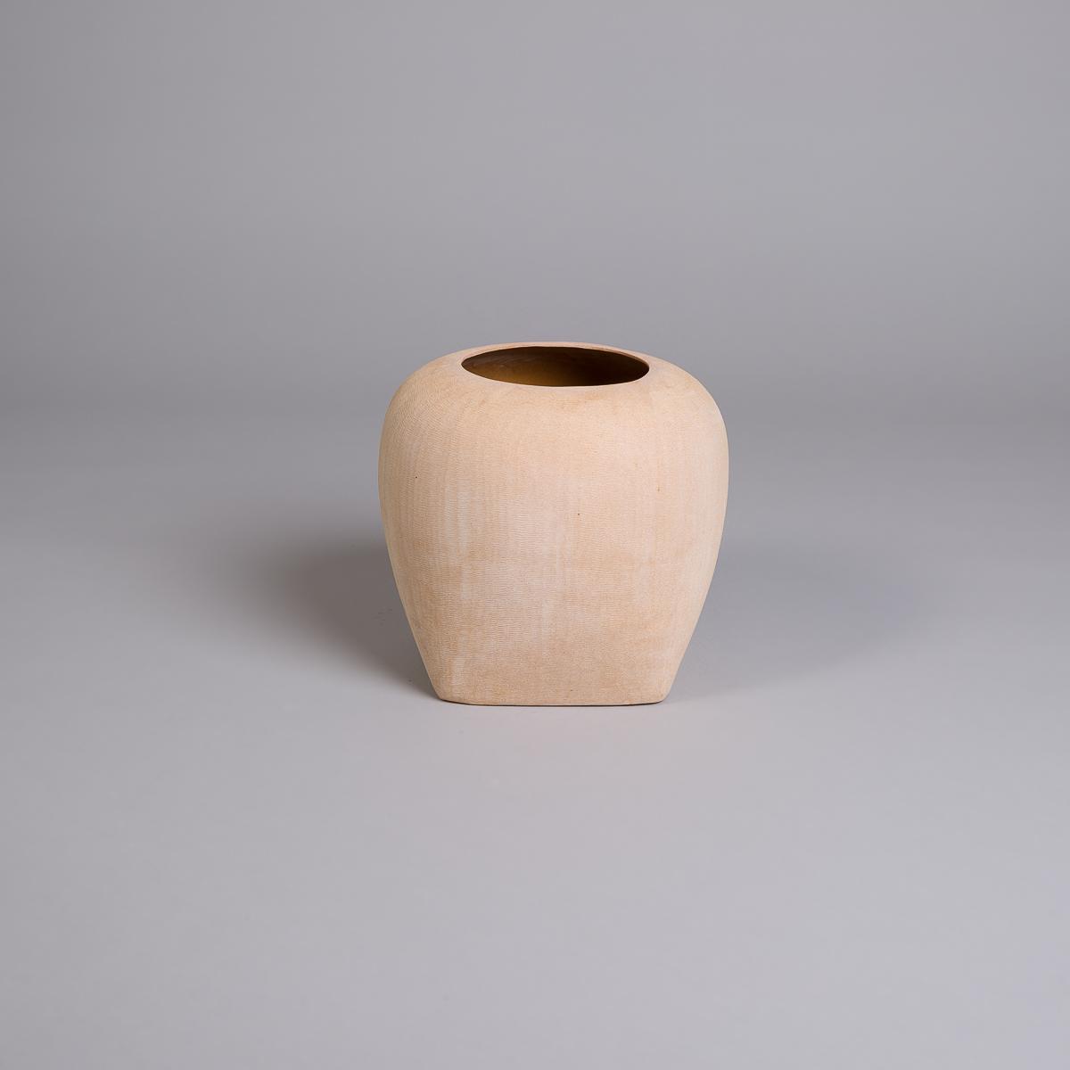 Oliver vase i sandstein - 26 cm - Beige-0