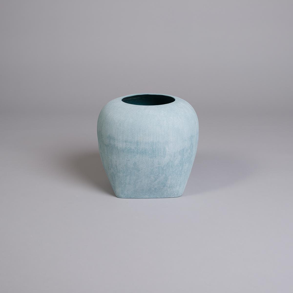 Oliver vase i sandstein - 26 cm - Blå-0