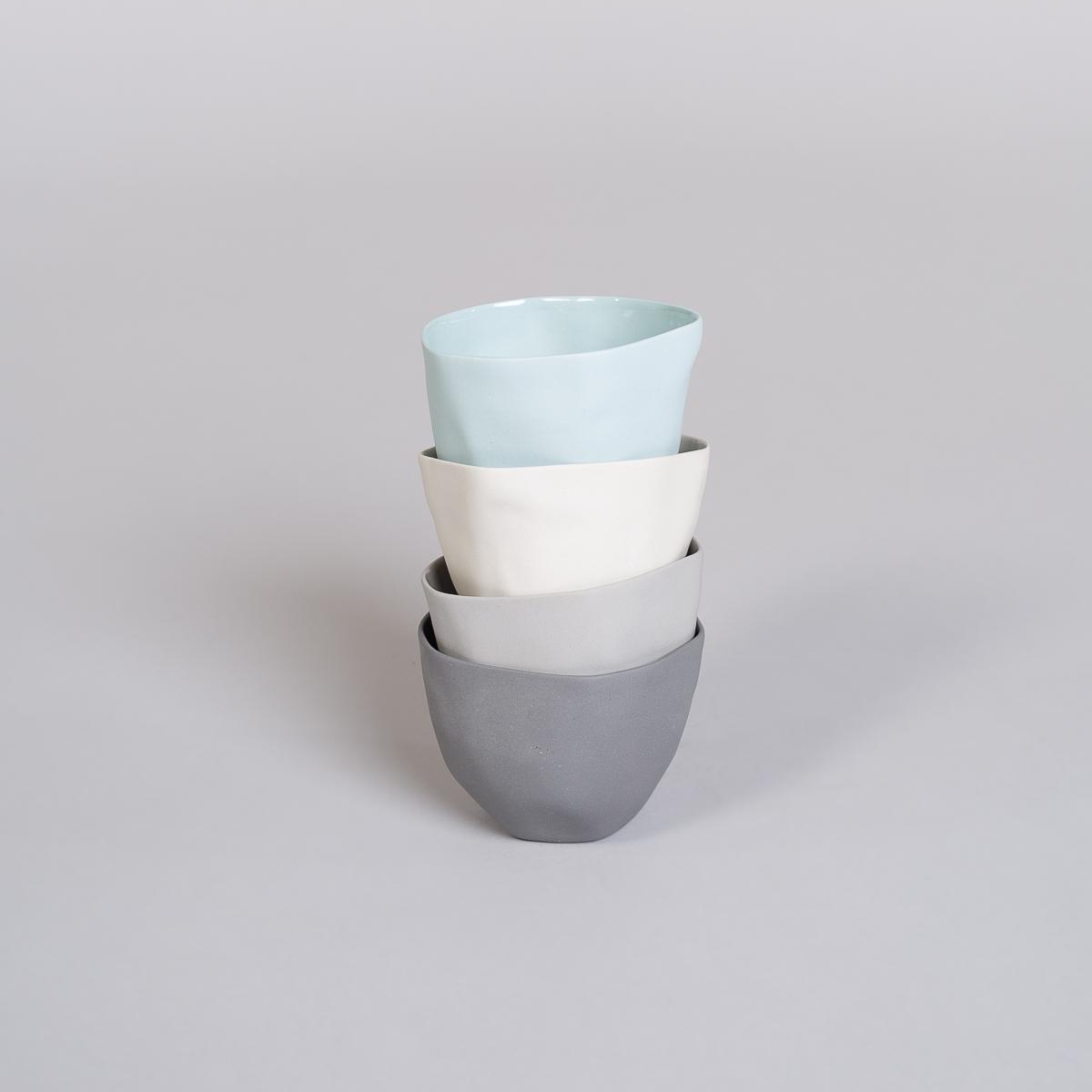 Kopp Medium i Porselen - Lys grå-241