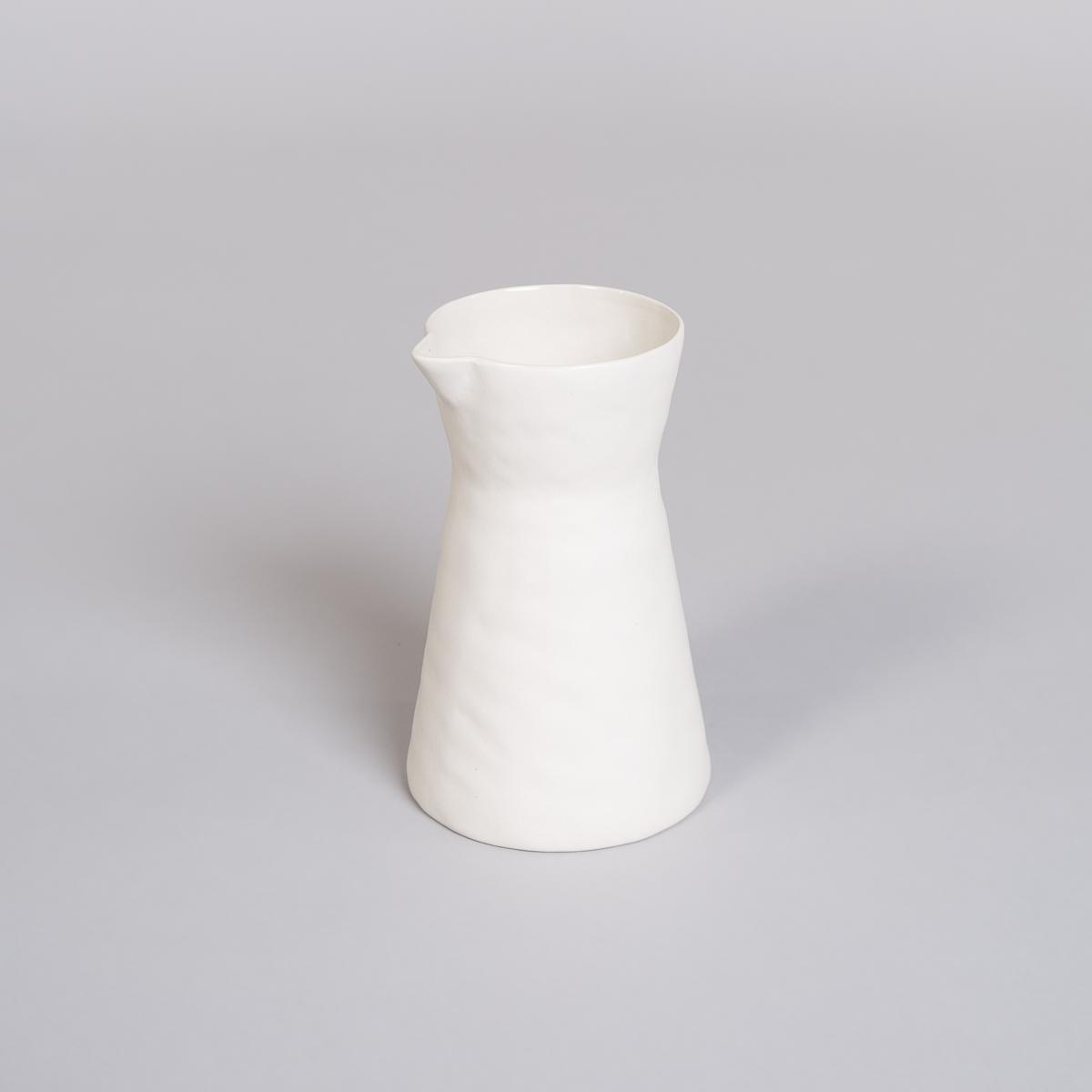 Mugge i Porselen - Kremfarget-0