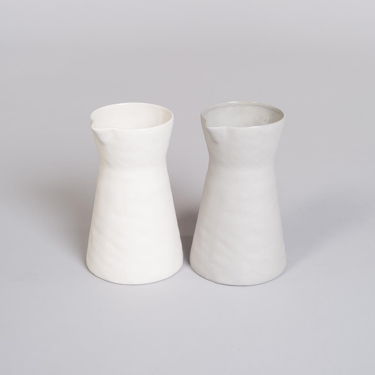 Mugge i Porselen - Lys grå-262