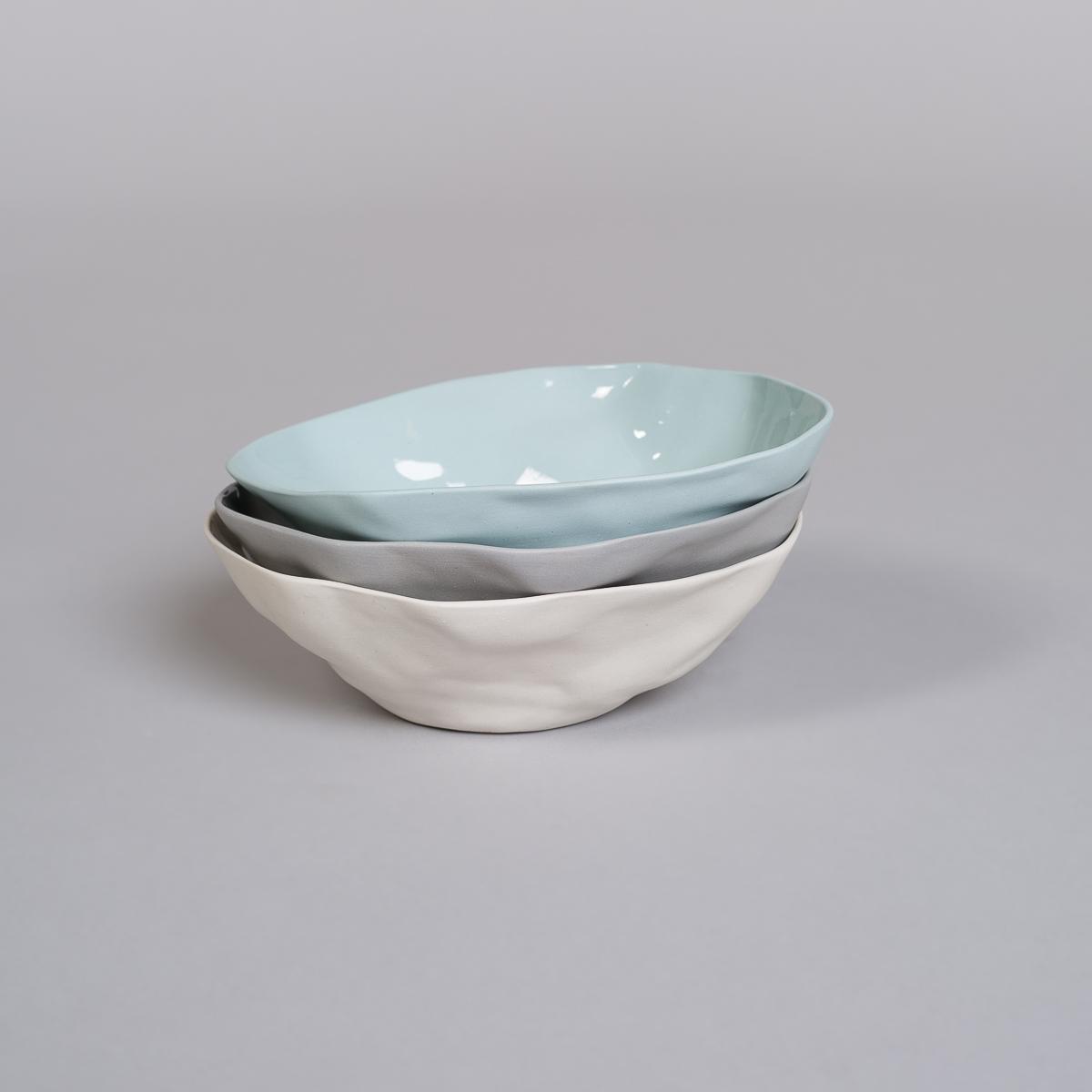 Bolle Medium i Porselen - Lys blå-250