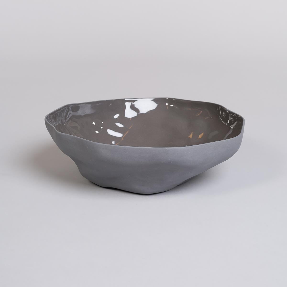 Bolle Stor i Porselen - Kullfarget-0
