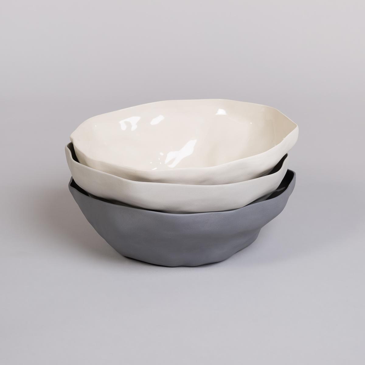 Bolle Stor i Porselen - Lys grå-256