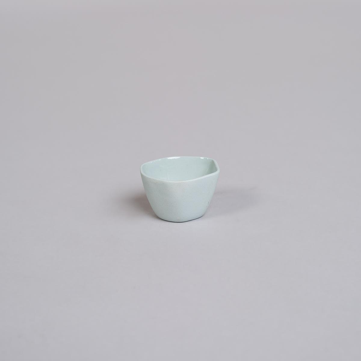 Egg glass / liten skål i Porselen-Lys blå-0