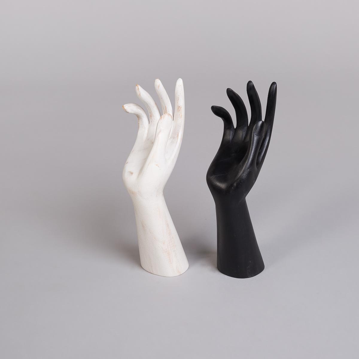 Smykkeholder hånd i svart - Høyde 30 cm-70