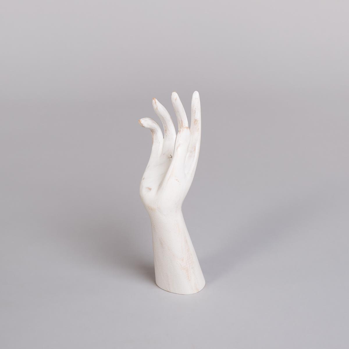 Smykkeholder Hånd i hvit - Høyde 30 cm-0