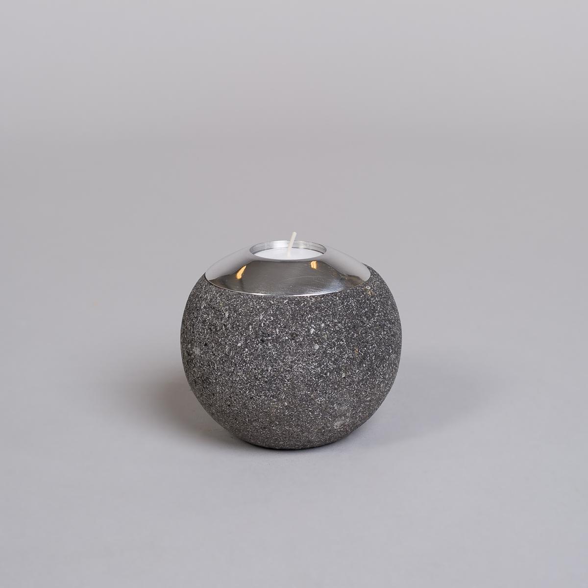 Te-lysholder i svart lava-stor-0