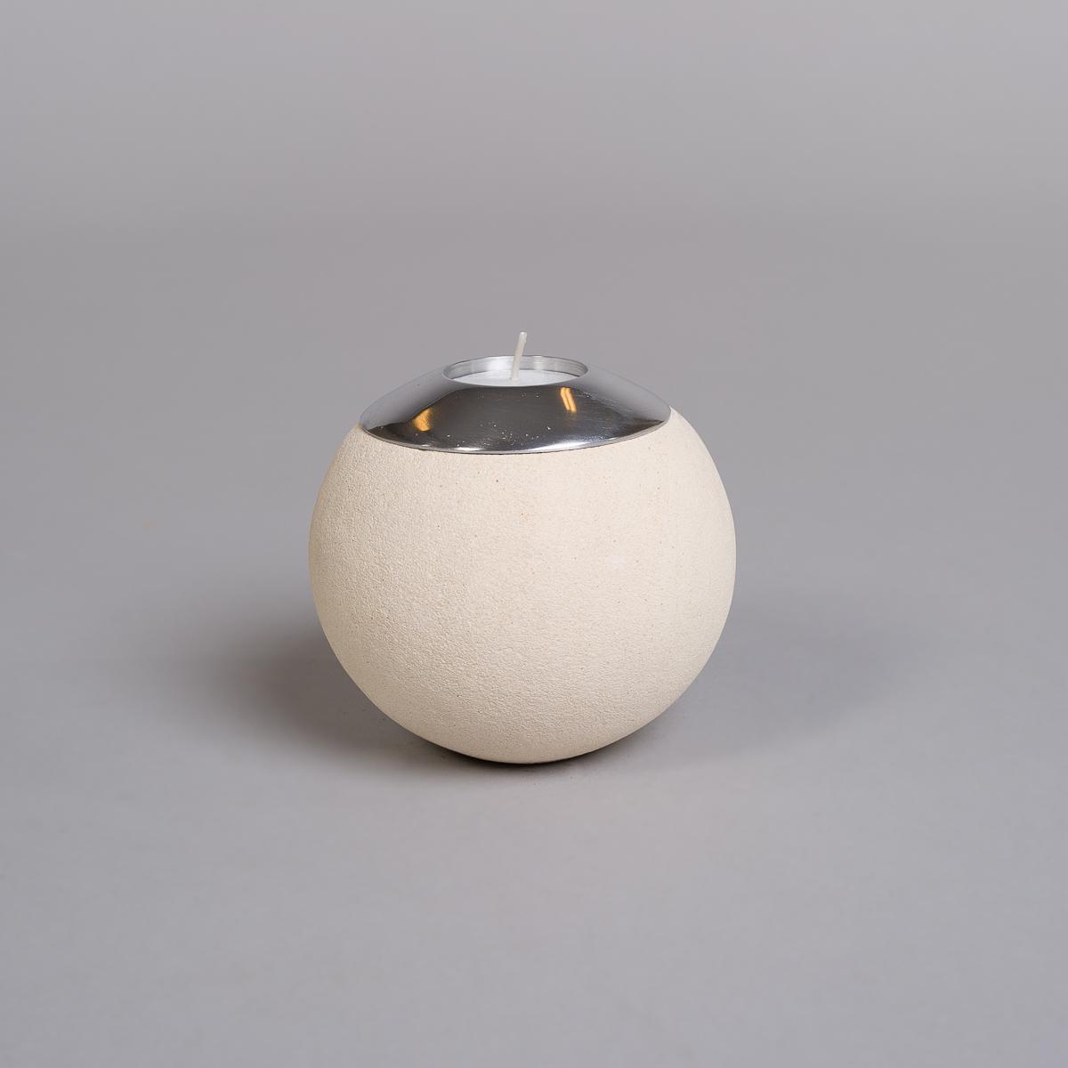 Te-lysholder i lys sandstein-stor-0