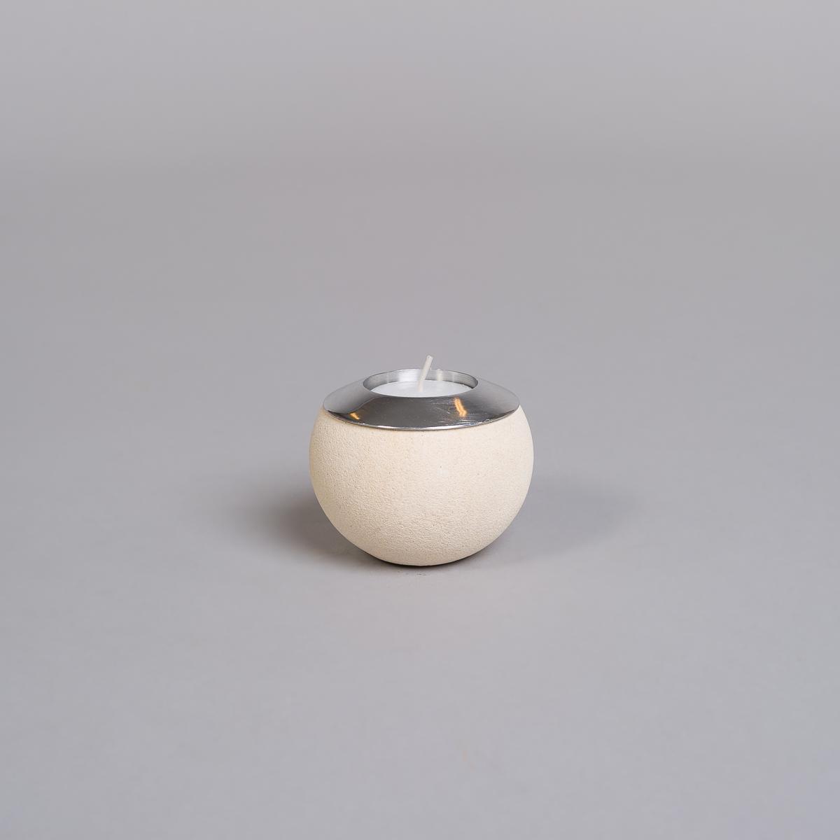 Te-lysholder i lys sandstein-liten-0