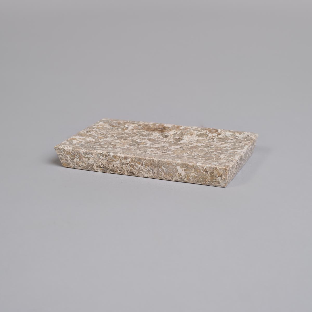 Såpekopp i marmor-Grå-0