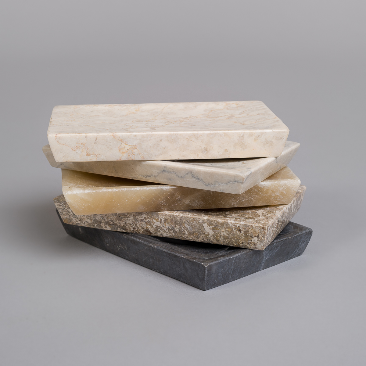 Såpekopp i marmor-Grå-155