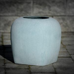 Oliver vase i sandstein - 26 cm - Blå-393