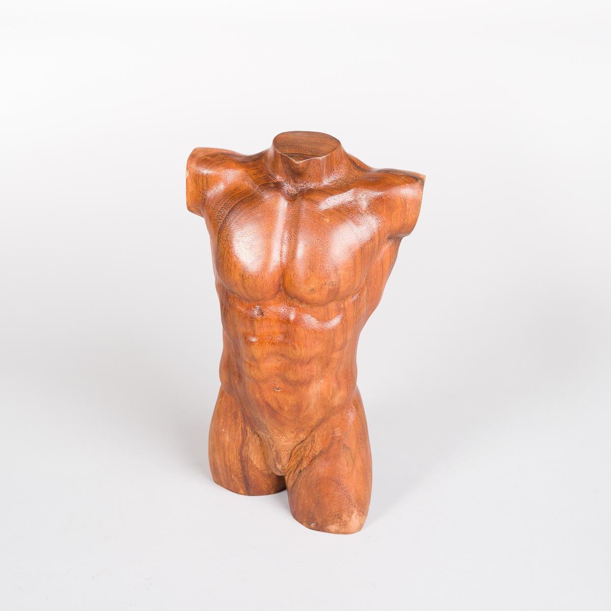 Manne Torso i tre - Høyde 30 cm-0