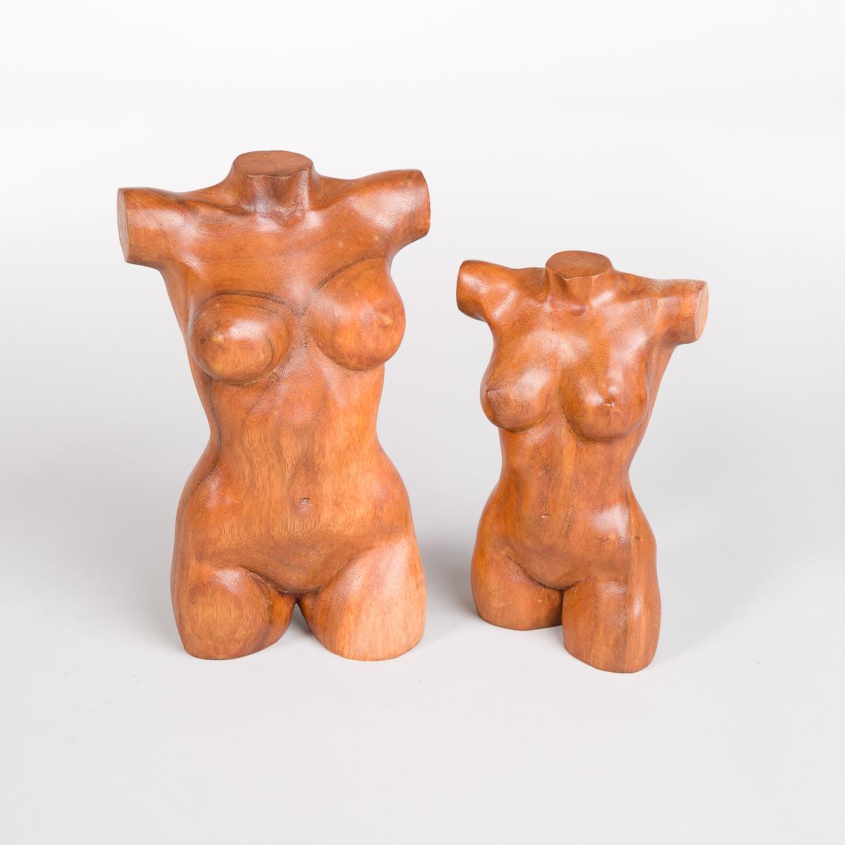 Kvinne Torso i tre - Høyde 26 cm-480