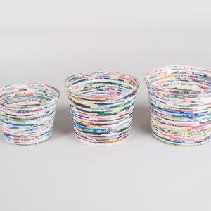 Sett på 3 potter i papir fra Bali-0