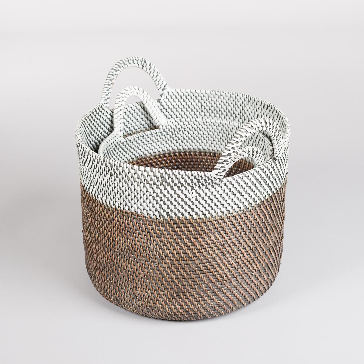 Sett på to kurver i rotting - Hvit/Brun-638