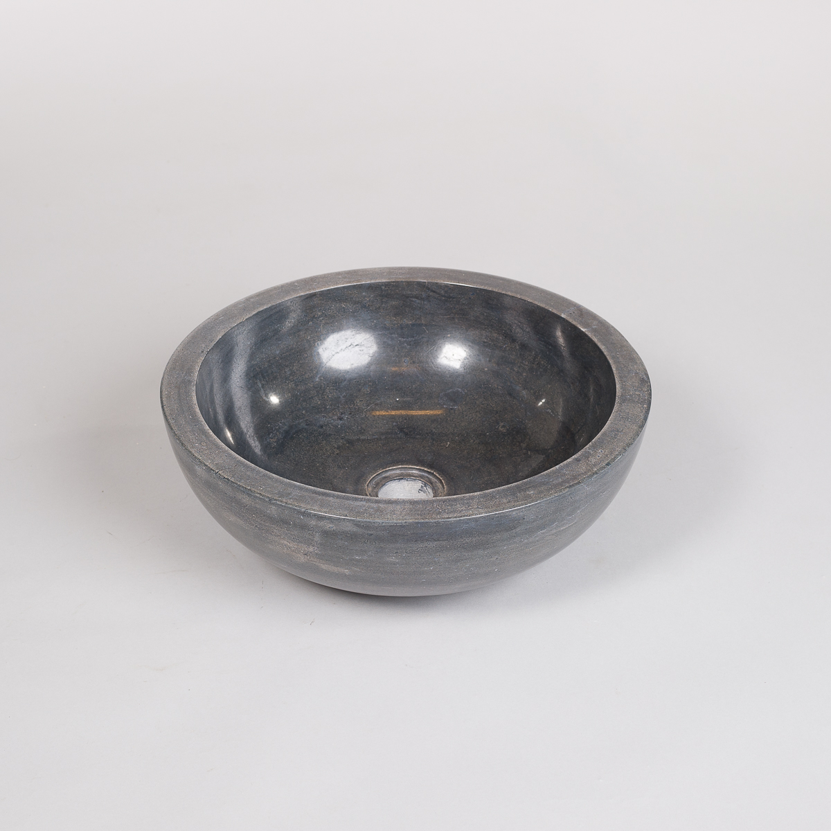 Rund vask i sort Marmor -0