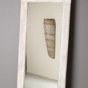 Stort Speil med hånd-utskåret mønster i Ramme-0